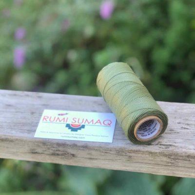 Waxed Thread Linhasita 90 Sage Green 1mm Waxed Polyester Cord | RUMI SUMAQ Linha Encerada Verde