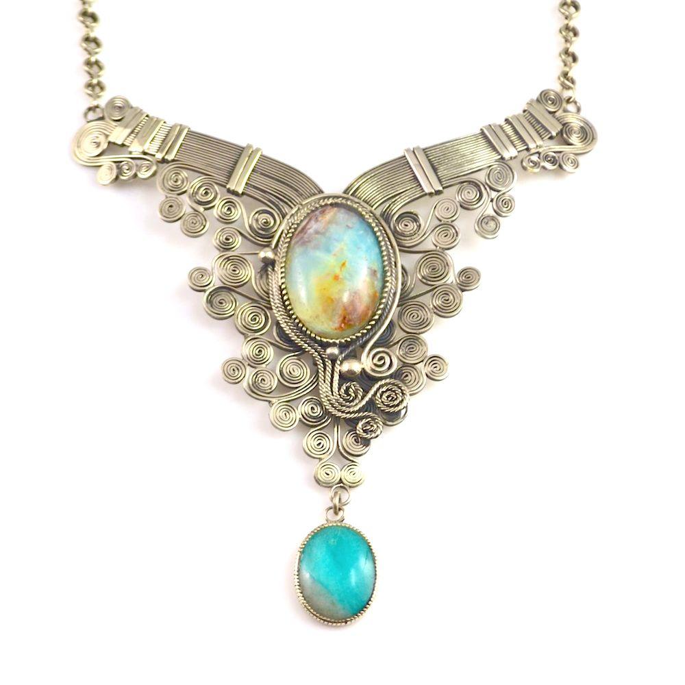 Hańas Art Jewelry Wirework Necklace