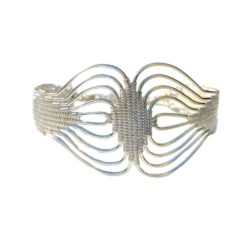Woven Silver Bracelet | RUMI SUMAQ art jewelry handmade by designer Coco Paniora Salinas on the beautiful island of Martha's Vineyard