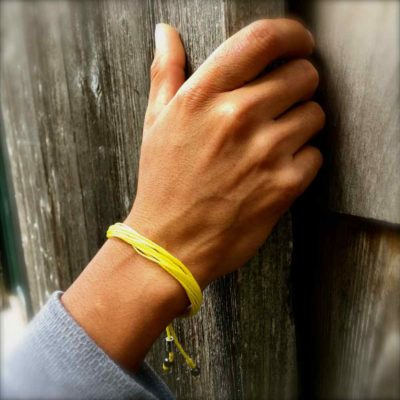 Yellow Awareness Bracelet by RUMI SUMAQ