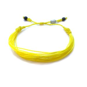 Yellow Awareness Bracelet: Handmade String Bracelets by Rumi Sumaq